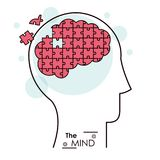 The mind puzzle jigsaw problem brain Royalty Free Stock Images