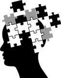 Mind puzzle. Vector illustration of mind puzzle Stock Photos