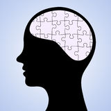 Mind puzzle Royalty Free Stock Image