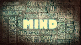 Mind relative words cloud Stock Image
