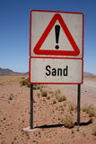Mind the sand Royalty Free Stock Images