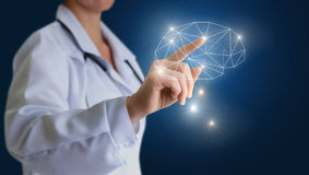 Mind in science and business. Stock Images