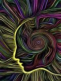 Mind Spiral Woodcut vector illustration