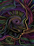 Mind Spiral Woodcut stock illustration