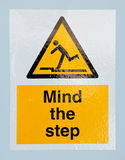 Mind the step sign Stock Photos