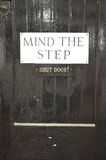 Mind the step sign. Royalty Free Stock Images