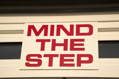 Mind the Step Royalty Free Stock Photo