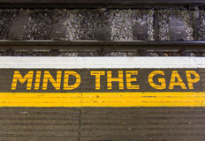 Free Mind The Gap Sign Royalty Free Stock Photography - 59284757