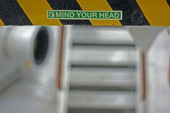Mind your head Stock Image