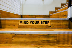 Mind your step Stock Image