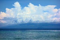 Mindanao in de wolken Stock Foto