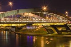 Mindaugas överbryggar i Vilnius Arkivbild