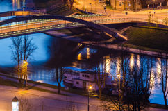 Mindaugas Bridge in Vilnius, Lithuania Royalty Free Stock Photography