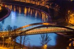 Mindaugas Bridge in Vilnius, Lithuania Stock Image