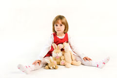 Minded little girl Royalty Free Stock Photo