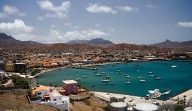 Mindelo, Capo Verde, paesaggio urbano Immagine Stock Libera da Diritti