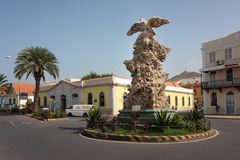 Mindelo landmark Eagle Statue, Sao Vicente Stock Photography