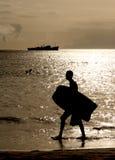 Mindelo plaża Fotografia Royalty Free