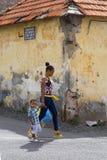 Mindelo, przylądek Verde, Afryka mieszkanowie miasto obraz royalty free