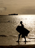 Mindelo strand Royaltyfri Fotografi