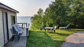 MIndemoya campground, Mindemoya Lake. Stock Image