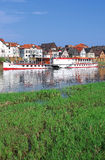 Minden,River Weser,Weserbergland,Germany Stock Photos
