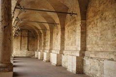 Minder belangrijk klooster van San Francesco, Ascoli Piceno Stock Fotografie