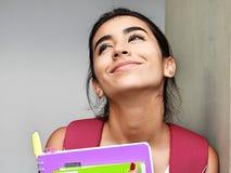 Minderheids Vrouwelijke Student Wondering stock foto
