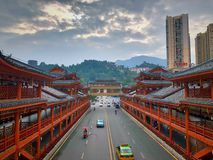 Minderheidsarchitectuur in China stock foto
