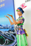 Minderheidsmeisje in nationaal kostuum, 2013 WCIF Stock Afbeeldingen