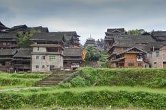Minderheitsdorf in China lizenzfreies stockbild