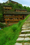 Minderheitsdorf in Guangxi-Provinz, China Lizenzfreie Stockfotos