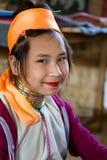 Minderheitsmädchen auf Myanmar Lizenzfreies Stockfoto