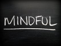 Mindful on a Blackboard Royalty Free Stock Image