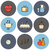 Mindful eating rules Stock Photo