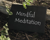 Mindful Meditation Stock Photography