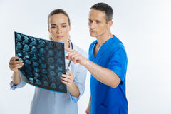 Mindful practitioners making diagnosis together Stock Photography