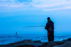 Mindfulness | рыболов сумрака Стоковое фото RF