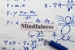 Mindfulness. In a napkin background with sketches Stock Photos