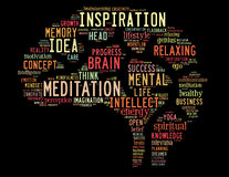 Mindfulness Brain, word cloud concept 2 Royalty Free Stock Image