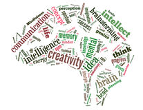 Mindfulness Brain, word cloud concept 3 Stock Photography