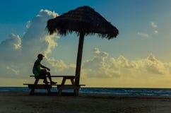 Mindfulness de plage images libres de droits