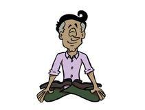 Mindfulness de pratique d'homme latin ou méditer illustration de vecteur