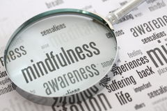 Mindfulness. Is the key to happiness Stock Image