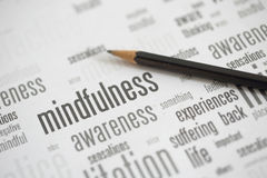 Mindfulness. Is the key to happiness Stock Images