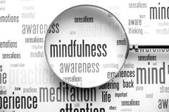 Mindfulness. Is the key to happiness royalty free stock photos