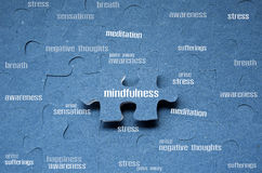 Mindfulness. Is the key to the happiness royalty free stock photography