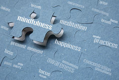 Mindfulness. Is the key to the happiness royalty free stock photos