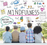 Mindfulness optymizm Relaksuje harmonii pojęcie zdjęcia stock