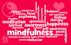 Mindfulness topics Royalty Free Stock Images